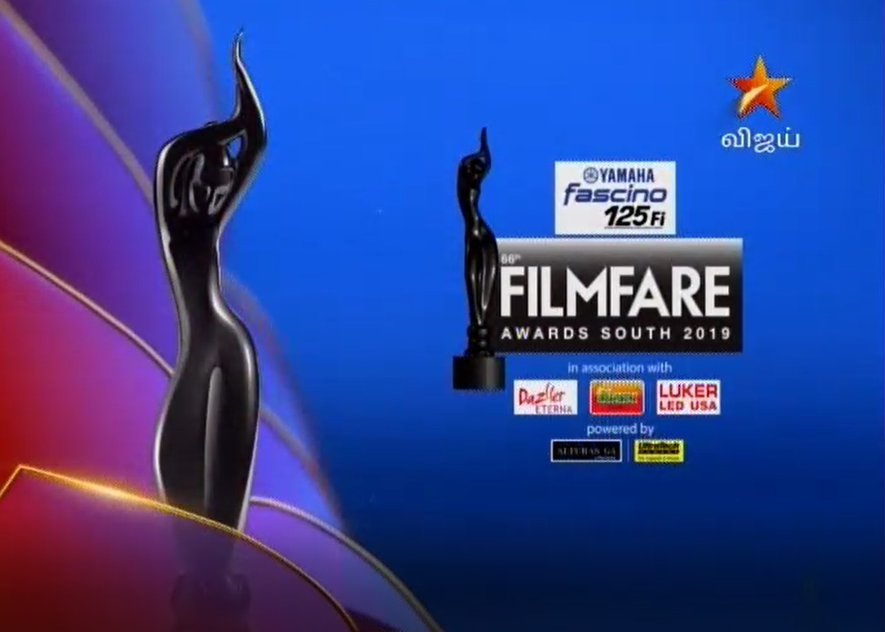 09-02-2020 - 66th Filmfare Awards South 2019  - Vijay tv Shows